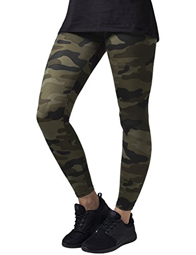 Kids Urban Camo (Urban Classics Ladies Camo Leggings, TB1331 Sports Leggings With Camoflage All Over Print For Women and Girls, Color Wood Camo, Size Large)