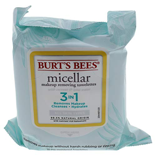 410rKal7JaL - Burt's Bees Micellar Cleansing Towelettessex 30 Piece Towelettes, 30 Count