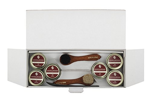 Langer & Messmer set de 17 pièces pour l´entretien e le soin professionnel de vos chaussures contenant crèmes de cirage… 7