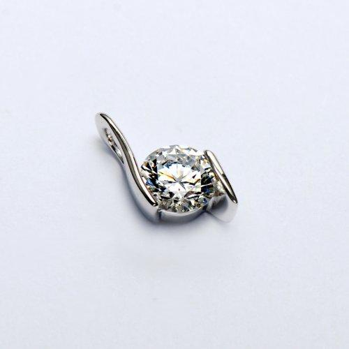MARENJA Argent-Collier Femme-Rond-Argent fin 925/1000-Oxyde de Zirconium-44cm-Bijoux Classique-03000195