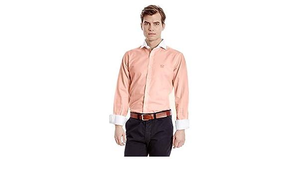 MAKARTHY Camisa Hombre Oxford Naranja XL: Amazon.es: Ropa y accesorios