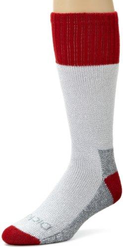 Dickies Men's 2 Pack High Bulk Acrylic Thermal Boot Crew Socks, Red, Sock Size:10-13/Shoe Size: 6-12