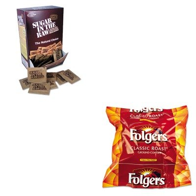 KITFOL06114OFX00319 - Value Kit - Sugar In The Raw Unrefined Sugar Made From Sugar Cane (OFX00319) and Folgers Regular Coffee Filter Pack, .9 Ounce (FOL06114)