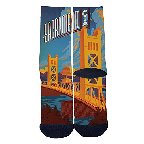 Eletina lee Men S Women S Custom Sacramento Tower Bridge Socks 3D Print Novel Creative Casual Crew Socks]()