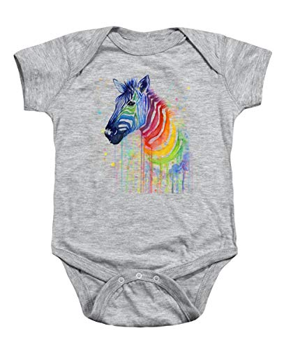 (Rainbow Zebra - Ode to Fruit Stripes Bodysuit - Rainbow Zebra Baby Clothes - Baby Boy - Baby Girl Clothes (New Born))