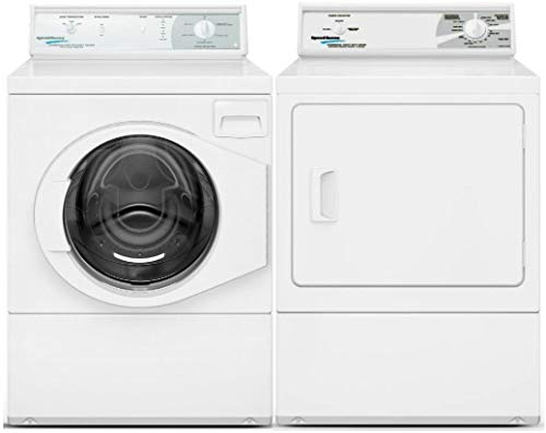 Speed Queen Front Load Energy Star LFN50RSP115TW01 27″ Washer with LDE30RGS173TW01 27″ Electirc Dryer Commercial Laundry Pair in White