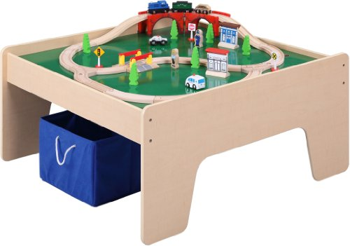 Maxim Inc Train Table with 45 Piece Train Set