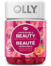 OLLY Undeniable Beauty Gummy Supplement With Biotin, Vitamin C & Keratin. Grapefruit Glam Flavour. For Healthy Hair, Skin and Nails (30 Day Supply, 60 Gummies)