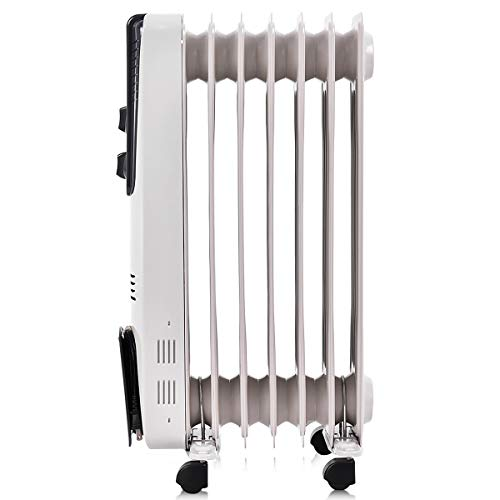 8b3bb091677 ... Tangkula Electric Oil Filled Radiator Heater Portable Home Room Radiant  Heat 5.7 Fin Thermostat 1500w Oil ...