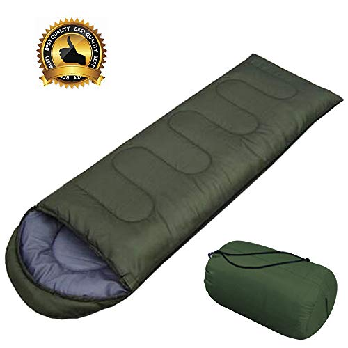 - AIR BOLING Sleeping Bag, Envelope Portable and Lightweight for 2-3Season Camping, Hiking, Traveling, Backpacking and Outdoor Activities, Great for Kids, Boys, Girls, Teens & Adults, Bottle Green