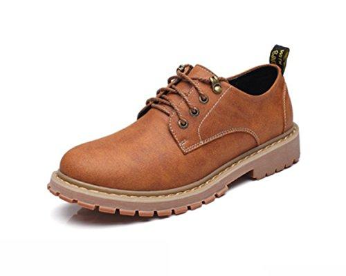 Stivali Tooling Trend Retro Shoes LINYI Boots Lightbrownplusvelvet Young Van British Uomo Da Boots Martin qnUWxYF