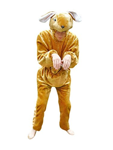 Fantasy World Kangaroo Costume Halloween f. Men and Women, Size: L/ 12-14, F29