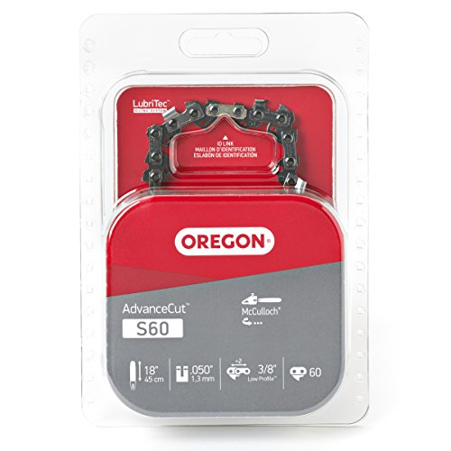 Oregon 18-Inch Semi Chisel Chain Saw Chain Fits McCulloch, Troy-Bilt S60