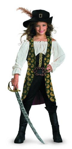 Angelica Deluxe Child Costume - Large (10-12) (Deluxe Kids Captain Jack Sparrow Costumes)
