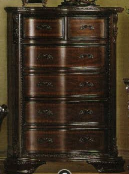 247SHOPATHOME Idf-7267C Drawers, chest, Cherry Antique Cherry Finish