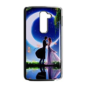 LG G2 Cell Phone Case Covers Black cartoons Love Couple Animated MXK