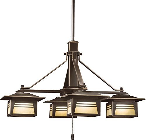 Kichler 15409OZ Zen Garden Chandelier 4-Light 12V, Olde Bronze