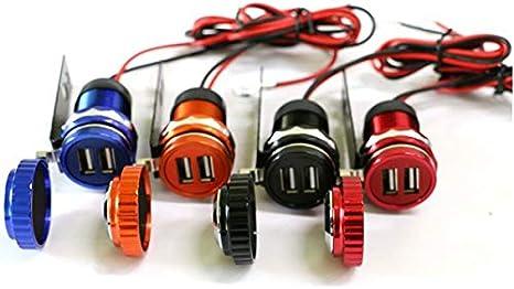 Nero JenNiFer 5V 3.1A Uscita 12V-24V Adattatore di Alimentazione per Caricabatterie con Doppia Presa USB con Orologio
