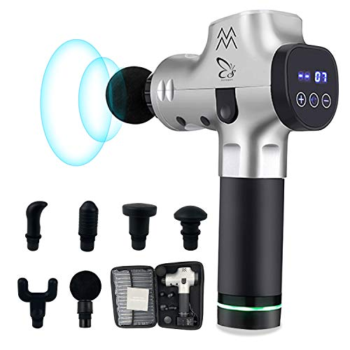 Awesome Muscle Massager Massage Gun,Muscle Massager,Professional Deep Tissue Massager for Pain Relief,Massagers for Muscles Handheld,Portable Super Quiet Massager Gun for Athletes,Super Upgraded 2019