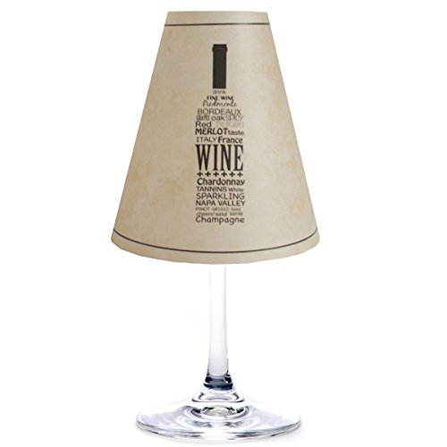 di Potter WS369 Napa Wine Bottle Paper White Wine Glass Shade, Parchment (Pack of 12) - Parchment Paper Shade
