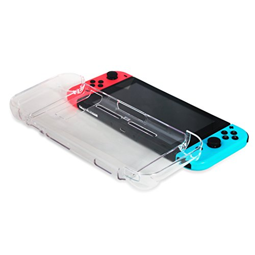 (Dockable Switch Case, Joy-Con Cover, Skin Compatible with Nintendo Switch, Protector Case Compatible with Switch with a Screen Protector and Duster Cloth)