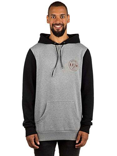 KR3W Classic Seal Pullover Hoodie Sweatshirt Grey Black Men's Medium