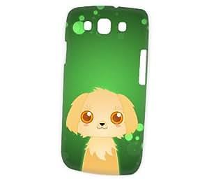 Case Fun Samsung Galaxy S3 (i9300) Case - Vogue Version - 3D Full Wrap - Golden Retriever by DevilleART