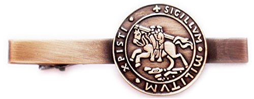Knights Templar Seal Crusaders Solomons Temple Tie Bar Clip