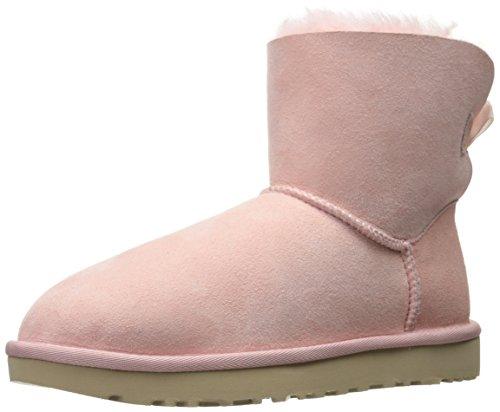UGG Women's Mini Bailey Bow Stripe Winter Boot - Petal - ...