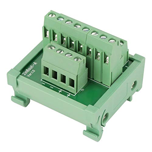 - Terminal Blocks Module, 2 in 8 Out DIN Rail and Panel Mounting Power Distribution Module Breakout Board