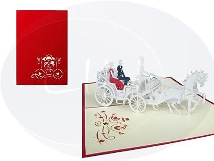 Lin Pop Up 3d tarjeta Tarjetas de boda invitaciones Tarjetas ...