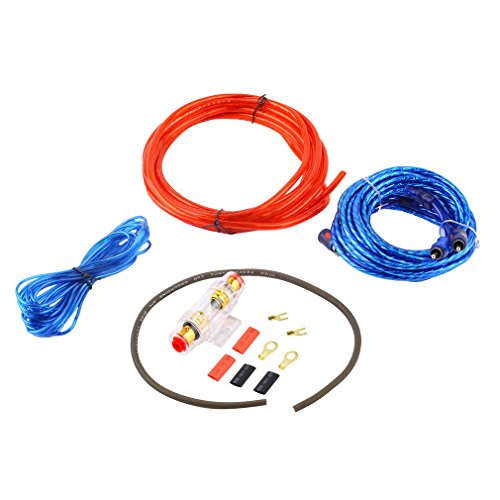 Graspwind 800W 8GA Car Audio Subwoofer Amplifier AMP Wiring Fuse Holder Wire Cable Kit, Car Audio Subwoofer Wire,Auto Audio Cables -