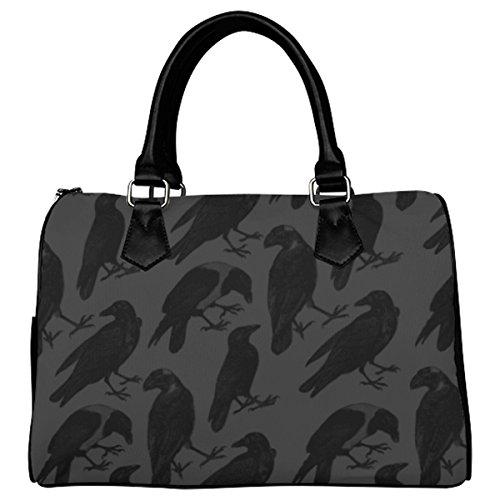 Jasonea Women Boston Handbag Top Handle Handbag Satchel The Raven Basad163644