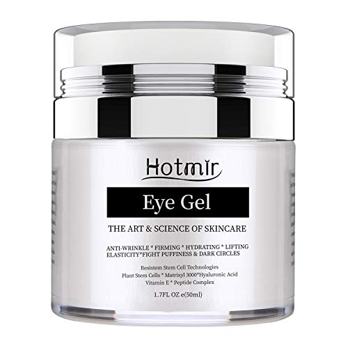 Hotmir Eye Gel for Dark Circles and Puffiness, | Wrinkles and Fine Lines, | Anti-aging Bags, Under Eye Cream Treatment - 1.7 fl oz