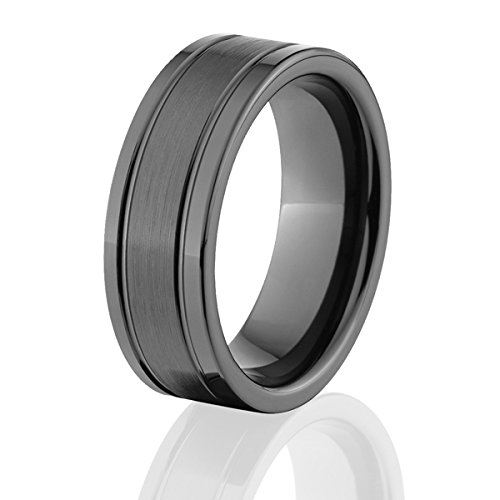 black beveled ceramic rings ceramic wedding rings - Ceramic Wedding Rings