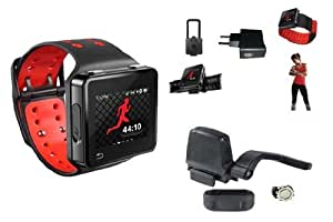 Motorola MotoACTV - Pulsómetro (8 GB, incluye auriculares, pinza, correa, cargador, con GPS, velocímetro y sensor de cadencia ANT+)