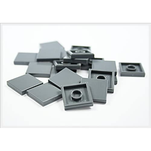 LEGO City - 20 tiles, 2x2 studs, in new dark grey - flat surface - 3068