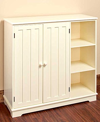 The Lakeside Collection Beadboard Storage Unit- Cream