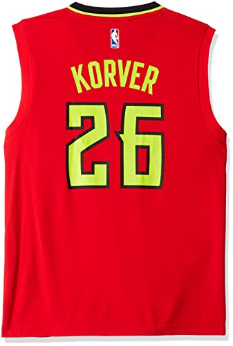 NBA Men's Atlanta Hawks Kyle Kover Replica Player Alternate Road Jersey, Large, Red