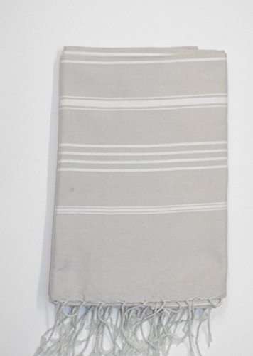 Del Norte luz gris – 100% algodón – toalla de baño, 100 cm x