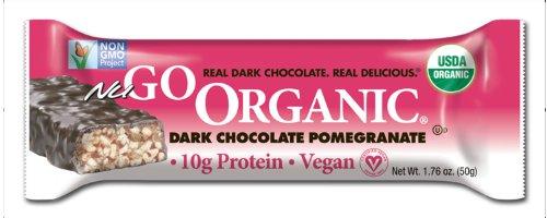 NuGo Органические Питание Бар, темный шоколад гранат, 1,76 унции Бары (в упаковке 12)
