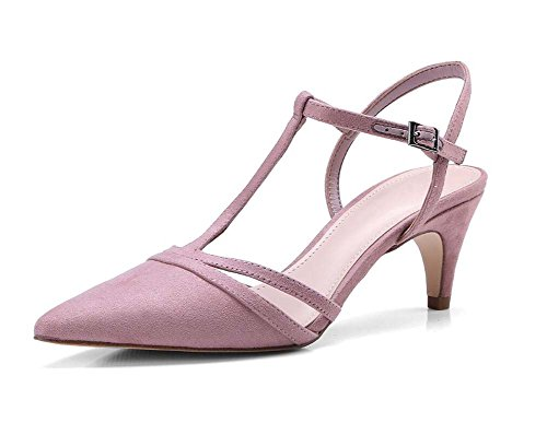 T Leather Sandalias Summer Mujer Heel band De Rosa Stiletto Zapatos New Scrub 6aHY0IWqn