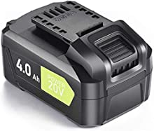 20V Lithium Battery - 4.0Ah Li-ion Battery Packs for Cordless Tools, Long Life Battery Work with SnapFresh Cordless Leaf Blower, Lithium-Ion Battery Support Fast Charging