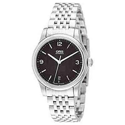 Oris Classic Date Black Dial Stainless Steel Mens Watch 733-7578-4034MB