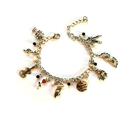 Costume Girl Phantom (Phantom Of The Opera Charm Bracelet - Broadway Musical Charm Bracelet Merchandise Gifts)