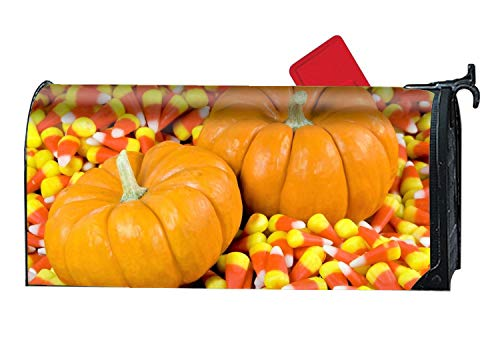 BYUII Holiday Halloween Gourd Candy Corn Mailbox Wrap Personalized Magnetic Mailbox Cover 9 x 21 inch