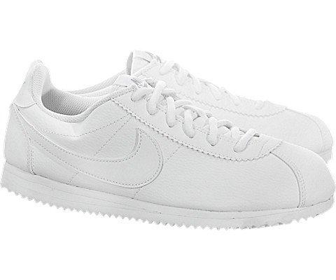 Nike Kids Cortez (GS) White/White Wolf Grey Casual Shoe 7 Kids US Photo #2