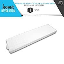 Bissell Style 8 &14 Lift Off Series Home Revolution Brand Replacement 3091 HEPA Filter; Made To Fit Bissell Lift Off, Momentum, Pet Hair Eraser, PowerClean, PowerGlide, PowerGroom, Total Floors and Velocity models that take the Bissell Style 8/14 HEPA filter; Made To Fit Bissell Part #3091 - Crafted by Home Revolution