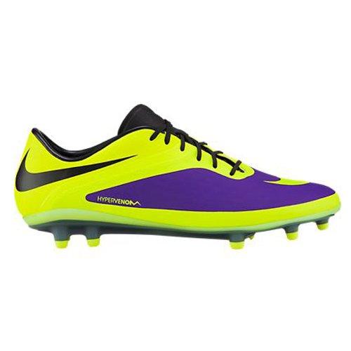 Nike Hommes Hypervenom Phatal Fg Football Cleat Violet / Noir / Volt