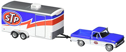 GreenLight 1:64 Hitch & Tow Series 12 1970 Ford F-100 and Enclosed Car Trailer Stp Racing Diecast Vehicles
